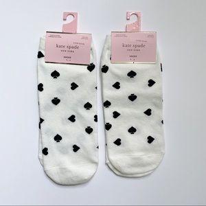 NWT kate spade black & white ♠️ socks (set of 2)